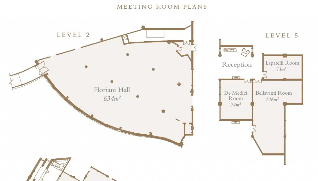 Meeting Rooms Plans Levels 2 & 5