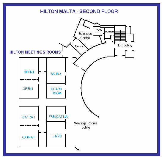 Hilton Malta - Second Floor Plan