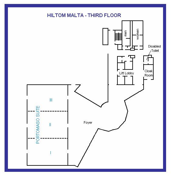 Hilton Malta - Third Floor Plan