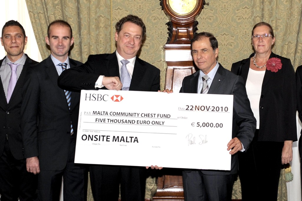 Donating €5,000 to Malta Community Chest Fund
